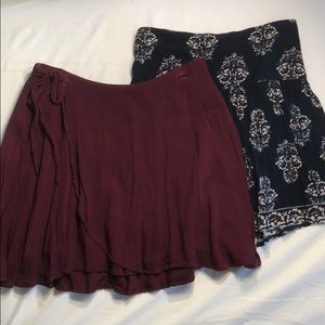 Hollister skirts set of 2